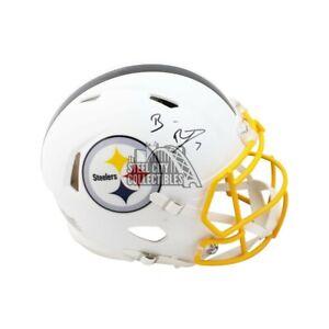Ben Roethlisberger Autographed Steelers Flat White Authentic F/S Helmet Fanatics
