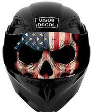 V33 American Flag Skull VISOR TINT DECAL Helmet UNIVERSAL Fits All Sport Bike