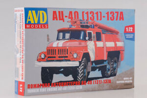 AVD Models 1288AVD 1:72 AC-40 USSR Fire Truck on ZIL-130-137A Chassis