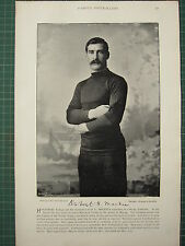 1897 print célèbre rugby joueurs ~ o. g. mackie wakefield trinity Haileybury