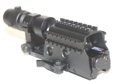 NcStar D3ARSGQLR2 Tri-Rail Green Dot w/Red Laser QR Mnt & SMAG3X- 3X Magnifier