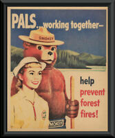 SMOKEY THE BEAR Welcome to The Schemmels or *YOUR NAME* Vintage Look METAL SIGN