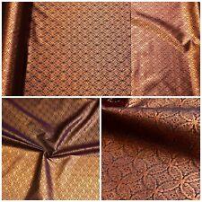 Jacquard Brokat Möbelstoff Vorhang Gardine Deko Stoff Meterware Schwarz Bronze