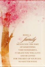 BEING A FAMILY VERSE / PRAYER SMALL GLASS RELIGIOUS INSPIRATIONAL PLAQUE