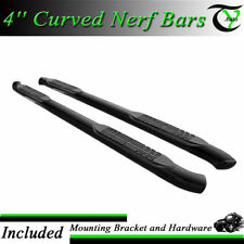 """Fits 07-17 Toyota Tundra Double Cab 4"""" Curved Black Pair Set Side Step Nerf Bar"""