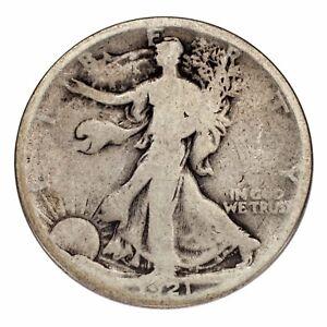 1921 Silver Walking Liberty Half Dollar 50C (Good,G Condition)