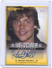 2010 Pop Century Mark Hamill Luke Skywalker autograph auto card #1/1 STAR WARS