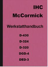 IHC McCormick d-430 d-324 d-320 dgd-4 ded-3 manuel de réparation Atelier Manuel