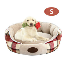 Plush Round Pet Bed Dog  Cushion Pad Soft Comfortable Puppy Kennel R9D9