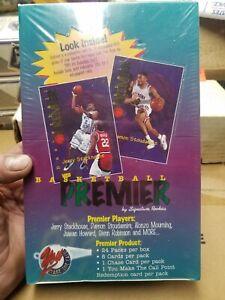 1996 Signature Rookies Basketball Premier, Factory Sealed Box 95-96 NBA 24 packs