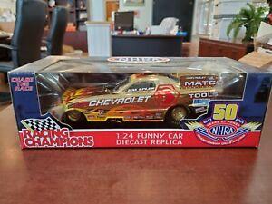 Rare 2001 Jim Epler Racing Champions Gold Chrome 1:24 NHRA Funny Car MIB