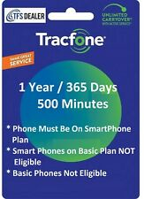 TracFone Service Extension 1 Year/365 Days + 500 Mins 4 Phones w SmartPhone Plan