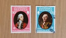 Complete Guernsey used stamp set: 1980 Famous Persons Europa
