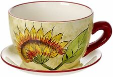 Large Teacup Planter, Original Cucina Italiana Ceramic Indoor planter Teacup