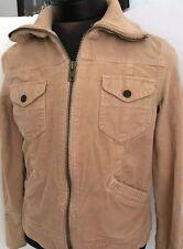 Gap Jacket Moto Wool Coat Beige Bomber Women Full Zip Sz M Fashion Mock Neck