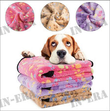 Cat Dog Puppy Fleece Soft Blanket Bed Cushion Warm Paw Print Pet Mat 3x 52*76Cm