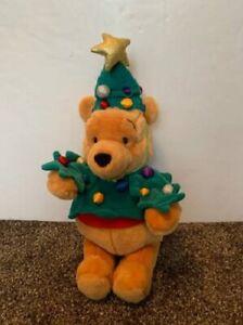"Vintage Walt Disney Winnie the Pooh Christmas Tree Costume Bear 16"" Plush Toy"