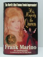 Frank Marino His Majesty the Queen HCDJ Book 1997 1st Edition Signed Autographed
