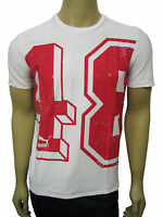 Mens Puma T-Shirt Top Red 48 Print - White Size XS to XXL A41