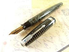 Restored silver Pearl Parker Vacumatic Major Fountain Pen - restored