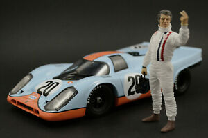 Steve McQueen (racing) Figure for 1:18 Norev Porsche 917k 356 908/2  ! NO CAR !