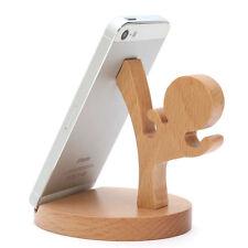 Handyhalter Tischhalter Echtholz Smartphone Tablet Halterung Ständer Kongfu