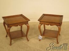 L42338: Pair HICKORY WHITE Country French End Tables ~ NEW
