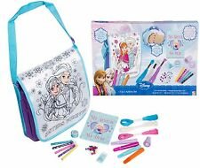 DISNEY congelato 3 in 1 Set creatività Ragazze Borsa Penne Pennarelli Art Set Regalo