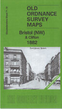 OLD ORDNANCE SURVEY MAP BRISTOL NW & CLIFTON 1882 COLOURED EDITION