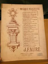 J. Fauré O Salutaris pour chant et piano ou orgue partition éditions Heugel