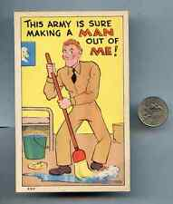 "Vintage Post Card Army ""This Army is Sure to Make a Man out of me"" Unused"