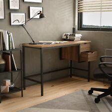 Home Working Desk with 2 Drawers - Walnut / Dark Brown