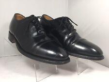 Johnston & Murphy Men's 7 D Black Leather Cap Toe Lace Up Oxford Dress Shoes