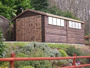 Softwood Featheredge Garage / Workshop - Timber Storage Building - Sheds