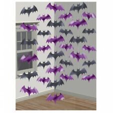 6 x 2.1m HALLOWEEN Scary Bat Dangling Spooky STRING DECORATION Party Trick Treat