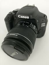 Canon EOS 600D 18MP Digital SLR Camera Kit with EF-S 18-55mm lens USED