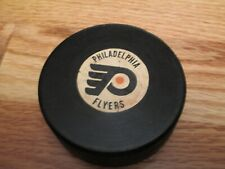 70s PHILADELPHIA FYERS (Official Art Ross Converse National) GAME USED Puck