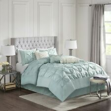 Full Size Laurel 7 Piece Tufted Comforter Set Green Transitional Madison Park