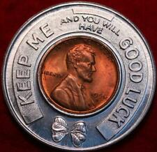 1950-S Good Luck Token Encased Penny