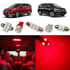 6x Red LED lights interior package kit for 2007-2012 Honda CR-V HV1R