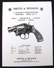 Smith & Wesson 38 Cal. Model 12 Revolver Manual - #SW4