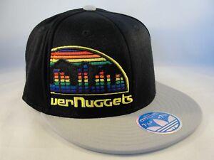 Denver Nuggets NBA Adidas Flex Cap Hat Size L/XL Black Gray