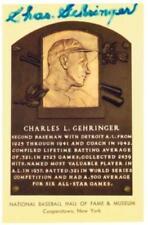Original Autograph PSA/DNA of Charles Gehringer on a HOF Plaque Postcard