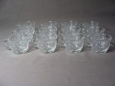 12 L.E. Smith Glass Punch Cups In The Pinwheel & Stars Pattern