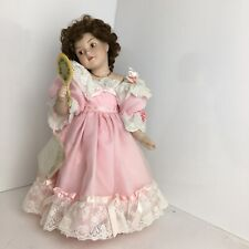 "ashton-drake porcelain dolls ""First Party� Pink Dressed Girl,Life Like Features."