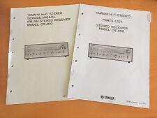 Yamaha CR-400 Receiver Service Manual & Parts List - Factory Original!