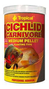 Tropical Cichlid Carnivore Pellet Medium 180G Colour Enhancer