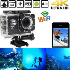 "WiFi 4K UltraHD 1080P 2.0"" Sports DV Action 30M Video Camera Waterproof Mini Cam"