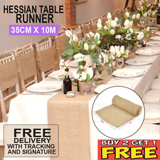35CM X 10M Hessian Burlap Roll Vintage Wedding Rustic Decoration Table Runner