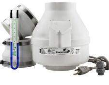 All in One Set Home Radon Mitigation System Kit Gas Reduction Radon Fan Monitor